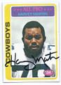 HARVEY MARTIN DALLAS COWBOYS AUTOGRAPHED VINTAGE FOOTBALL CARD #11717C