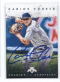 CARLOS CORREA HOUSTON ASTROS AUTOGRAPHED BASEBALL CARD #11717F