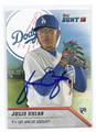 JULIO URIAS LOS ANGELES DODGERS AUTOGRAPHED ROOKIE BASEBALL CARD #11817C