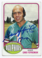 GARO YEPREMIAN MIAMI DOLPHINS AUTOGRAPHED VINTAGE FOOTBALL CARD #11817F