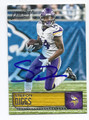 STEFON DIGGS MINNESOTA VIKINGS AUTOGRAPHED FOOTBALL CARD #12117B