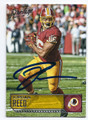 JORDAN REED WASHINGTON REDSKINS AUTOGRAPHED FOOTBALL CARD #12217B
