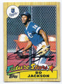 BO JACKSON KANSAS CITY ROYALS AUTOGRAPHED BASEBALL CARD #12417B