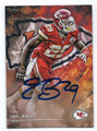 ERIC BERRY KANSAS CITY CHIEFS AUTOGRAPHED FOOTBALL CARD #12417D