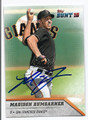 MADISON BUMGARNER SAN FRANCISCO GIANTS AUTOGRAPHED BASEBALL CARD #12517E