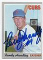 RANDY HUNDLEY CHICAGO CUBS AUTOGRAPHED VINTAGE BASEBALL CARD #12717F