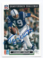 JOHNNY UNITAS BALTIMORE COLTS AUTOGRAPHED FOOTBALL CARD #12817E