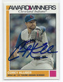 COREY KLUBER CLEVELAND INDIANS AUTOGRAPHED BASEBALL CARD #12917F