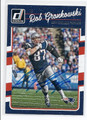 ROB GRONKOWSKI NEW ENGLAND PATRIOTS AUTOGRAPHED FOOTBALL CARD #13017B