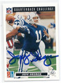 JEFF GEORGE INDIANAPOLIS COLTS AUTOGRAPHED FOOTBALL CARD #13017E