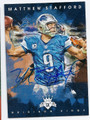 MATTHEW STAFFORD DETROIT LIONS AUTOGRAPHED FOOTBALL CARD #13117B