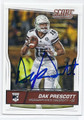 DAK PRESCOTT MISSISSIPPI STATE BULLDOGS AUTOGRAPHED ROOKIE FOOTBALL CARD #13117E