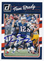 TOM BRADY NEW ENGLAND PATRIOTS AUTOGRAPHED FOOTBALL CARD #20117C