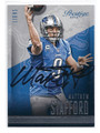 MATTHEW STAFFORD DETROIT LIONS AUTOGRAPHED FOOTBALL CARD #20417B