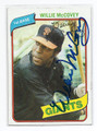 WILLIE McCOVEY SAN FRANCISCO GIANTS AUTOGRAPHED VINTAGE BASEBALL CARD #20417F