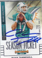 RYAN TANNEHILL MIAMI DOLPHINS AUTOGRAPHED FOOTBALL CARD #20617C