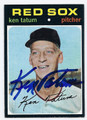 KEN TATUM BOSTON RED SOX AUTOGRAPHED VINTAGE BASEBALL CARD #30917C