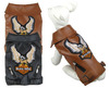 Dog Eagle Design Leather Tank Jacket