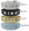Rhinestones KING Letter Collar