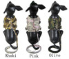 Camo Denim Harness With Leads