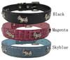 Dogs Rhinestone Leather Collar