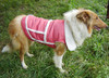 Large Dog White Fur Lining Pink Denim Jacket