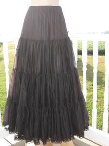 Chiffon Petticoat Black