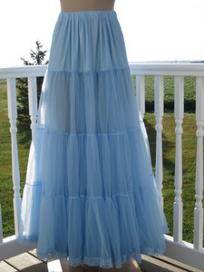 Chiffon Petticoat Light Blue