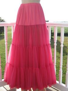Chiffon Petticoat  Pink Raspberry