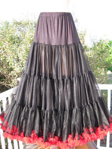 Ball Gown Petticoat PS835-38-BLK/RD