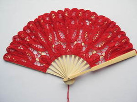 Lace Fan Red