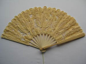 Lace Fan Yellow