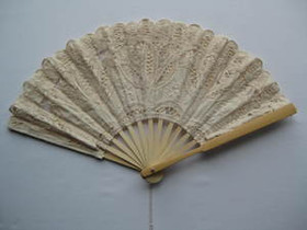 Lace Fan Ecru