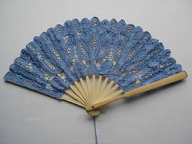 Lace Fan Blue