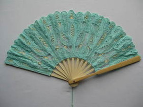 Lace Fan Green