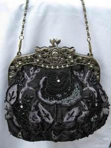 Vintage Evening Bag - Black