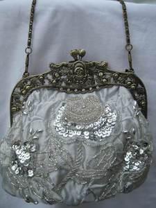 Vintage Evening Bag HBO3311-SIL