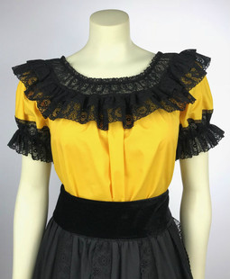 Fiesta Blouse - Yellow/Black