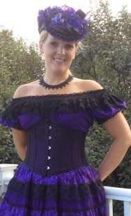 Black/Purple Waspie Corset