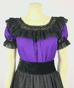 Fiesta Blouse - Purple/Black