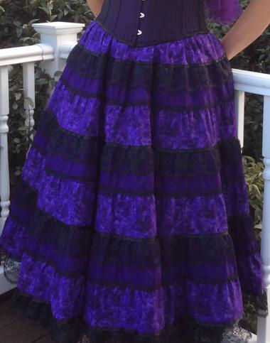 Charlotte Skirt Purple/Black