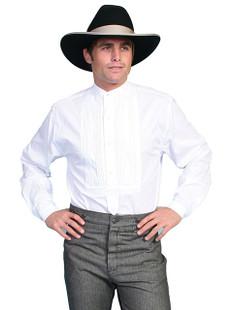 Scully Tuxedo Front Shirt White