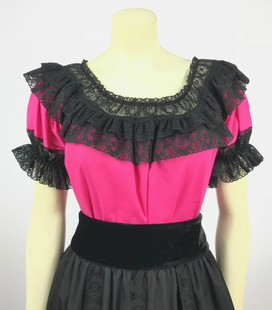 Fiesta Blouse - Raspberry/Black