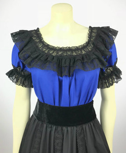 Fiesta Blouse - Royal/Black