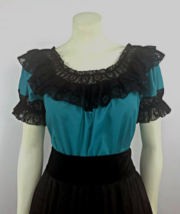 Fiesta Blouse - Jade/Black