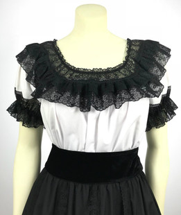 Fiesta Blouse - White/Black
