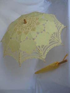 Battenburg Lace Parasol Yellow