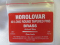 "Horolovar Brass Taper Pins .065"" - .030"""