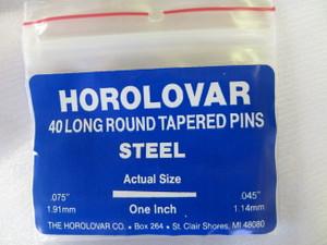 """Horolovar Steel Taper Pins .075"""" - .045"""""""
