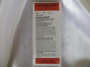 """Horolovar .0040"""" - .102mm 12 Pack Suspension Springs"""